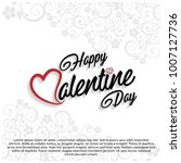 happy valentine's day card with ... | Shutterstock .eps vector #1007127736