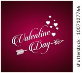 valentine's day with pink... | Shutterstock .eps vector #1007127766
