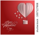 valentine's day card with red... | Shutterstock .eps vector #1007127808