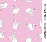 seamless pattern with white...   Shutterstock .eps vector #1007128042
