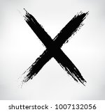 x.vector cross sign. | Shutterstock .eps vector #1007132056