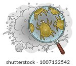dust mites in the magnifying... | Shutterstock .eps vector #1007132542
