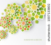 greeting card with intricate... | Shutterstock .eps vector #1007133802