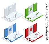 isometric tribune set vector.... | Shutterstock .eps vector #1007134756