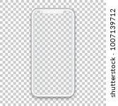 white mobile concept with empty ... | Shutterstock .eps vector #1007139712