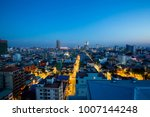 cityscape of  light morning ... | Shutterstock . vector #1007144248