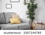 comfortable sofa with pillows... | Shutterstock . vector #1007144785