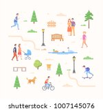 city life constructor   set of... | Shutterstock .eps vector #1007145076