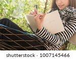 beautiful young teenage woman...   Shutterstock . vector #1007145466