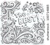 The Best Shooting Stars Hand-Drawn Sketchy Back to School Notebook Doodles with Starbursts, Swirls, and Stars- Vector Illustration Design Elements on Lined Sketchbook Paper Background