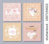 happy  valentine's day. set of... | Shutterstock .eps vector #1007154022