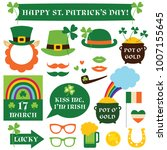 patrick s day isolated design... | Shutterstock .eps vector #1007155645