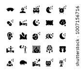 vector icon set of sleep in...   Shutterstock .eps vector #1007156716