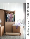 wardrobe boxes with clothes... | Shutterstock . vector #1007158828