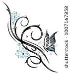 beautiful feminine tribal... | Shutterstock .eps vector #1007167858