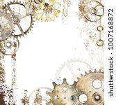 steam punk card with clockwork  ... | Shutterstock . vector #1007168872