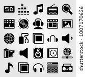 multimedia icon set vector.... | Shutterstock .eps vector #1007170636