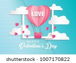 love and valentine day card... | Shutterstock .eps vector #1007170822