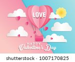 love and valentine day card... | Shutterstock .eps vector #1007170825