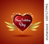 valentine holiday background...   Shutterstock .eps vector #1007177992