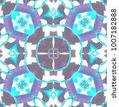 colorful kaleidoscopic pattern... | Shutterstock . vector #1007182888