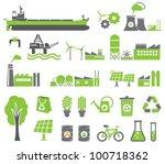 green energy symbols  ecology... | Shutterstock .eps vector #100718362