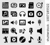 multimedia icon set vector.... | Shutterstock .eps vector #1007185522