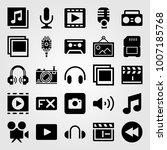 multimedia icon set vector....   Shutterstock .eps vector #1007185768