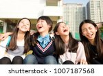 group of teenage students girls ...   Shutterstock . vector #1007187568