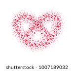 abstract red carpet  heart... | Shutterstock .eps vector #1007189032