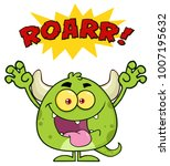 green monster cartoon emoji...   Shutterstock . vector #1007195632