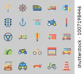 icons set about transportation. ... | Shutterstock .eps vector #1007198446