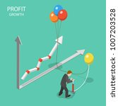 profit growth flat isometric... | Shutterstock .eps vector #1007203528