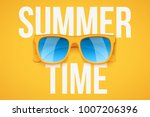 yellow sunglasses on yellow... | Shutterstock .eps vector #1007206396