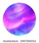 vector illustration of violet... | Shutterstock .eps vector #1007206516