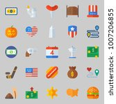 icons set about united states.... | Shutterstock .eps vector #1007206855