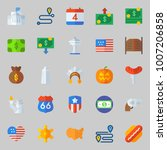 icons set about united states.... | Shutterstock .eps vector #1007206858