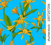 hand drawn flowers lilies on a... | Shutterstock .eps vector #1007207206