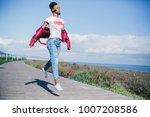 portrait of cheerful black... | Shutterstock . vector #1007208586