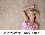 over head beauty portrait of... | Shutterstock . vector #1007208856