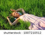 beautiful sexy girl relax on... | Shutterstock . vector #1007210512