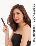 an asian young cute girl pose... | Shutterstock . vector #1007210932