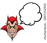 devil with speech bubble... | Shutterstock .eps vector #1007212942