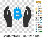 bitcoin care hands pictograph...