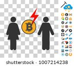 bitcoin shock divorce icon with ...
