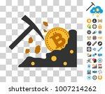 bitcoin rocks mining pictograph ...