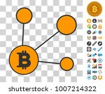 bitcoin node links icon with... | Shutterstock .eps vector #1007214322