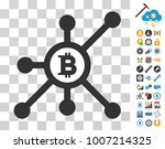 bitcoin node network icon with...