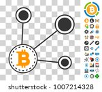 bitcoin node connect icon with...