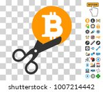 scissors cut bitcoin pictograph ...